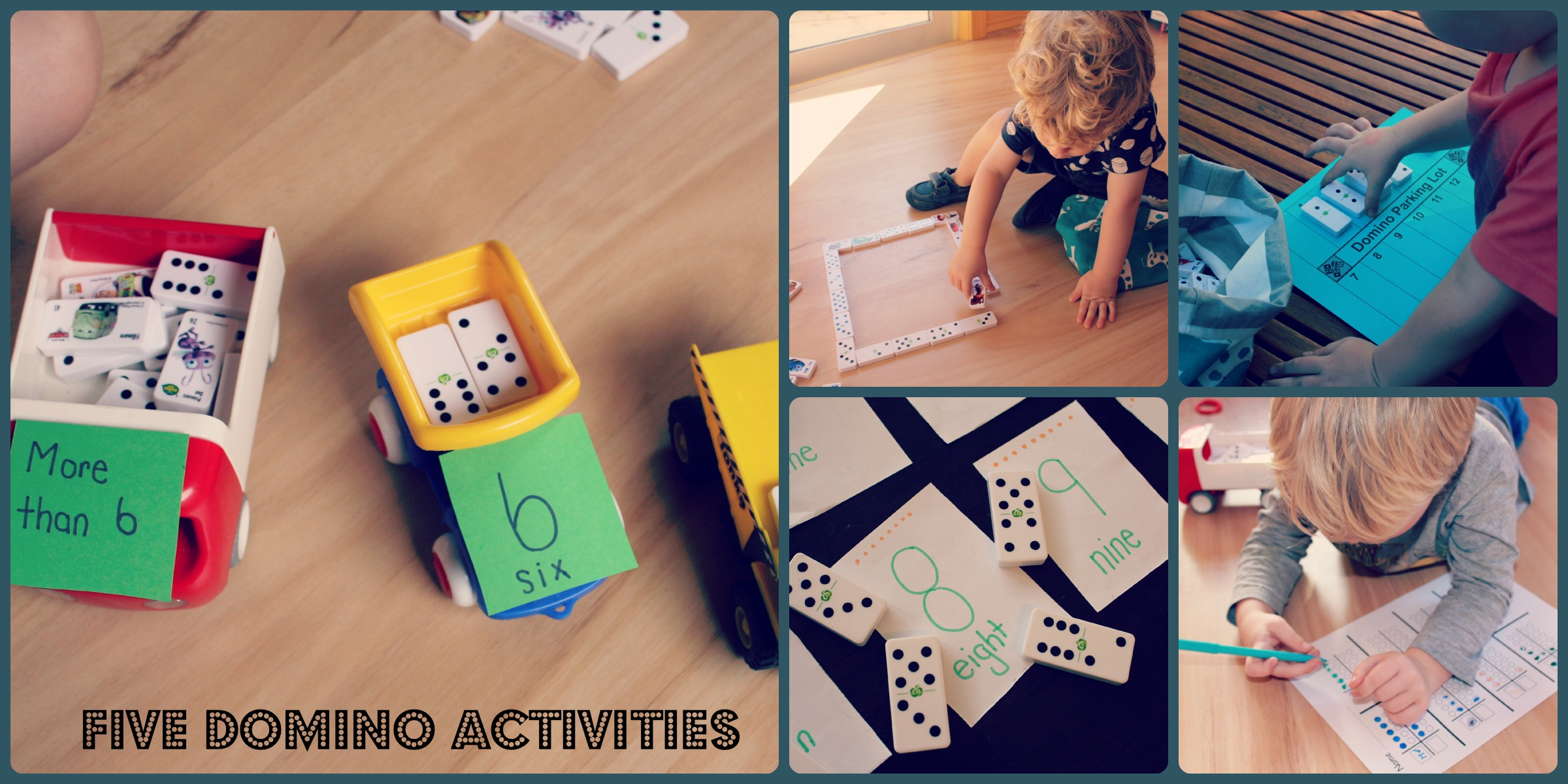 Five domino activities by Life on Wallace