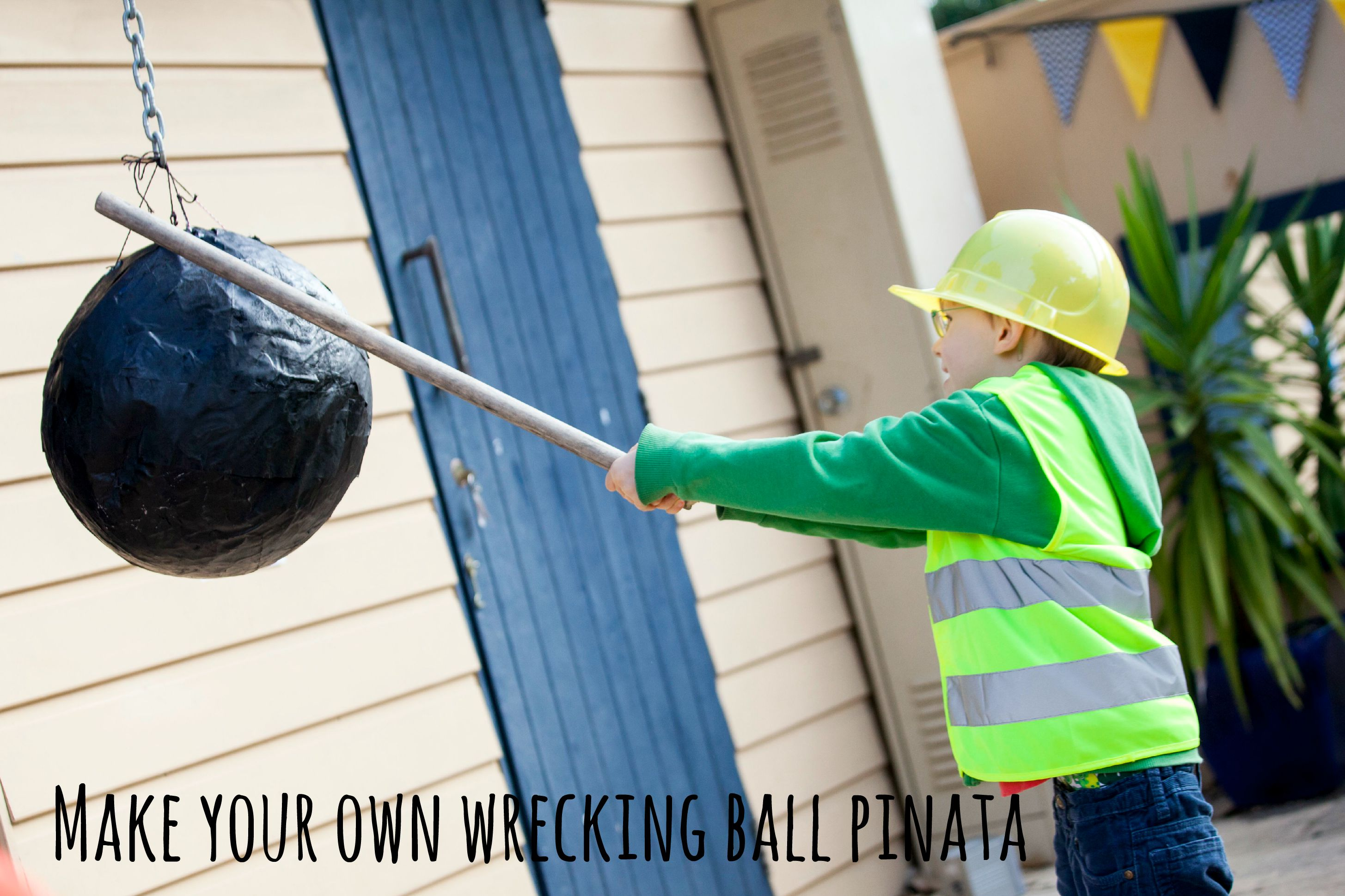 Make your own wrecking ball pinata - Life on Wallace
