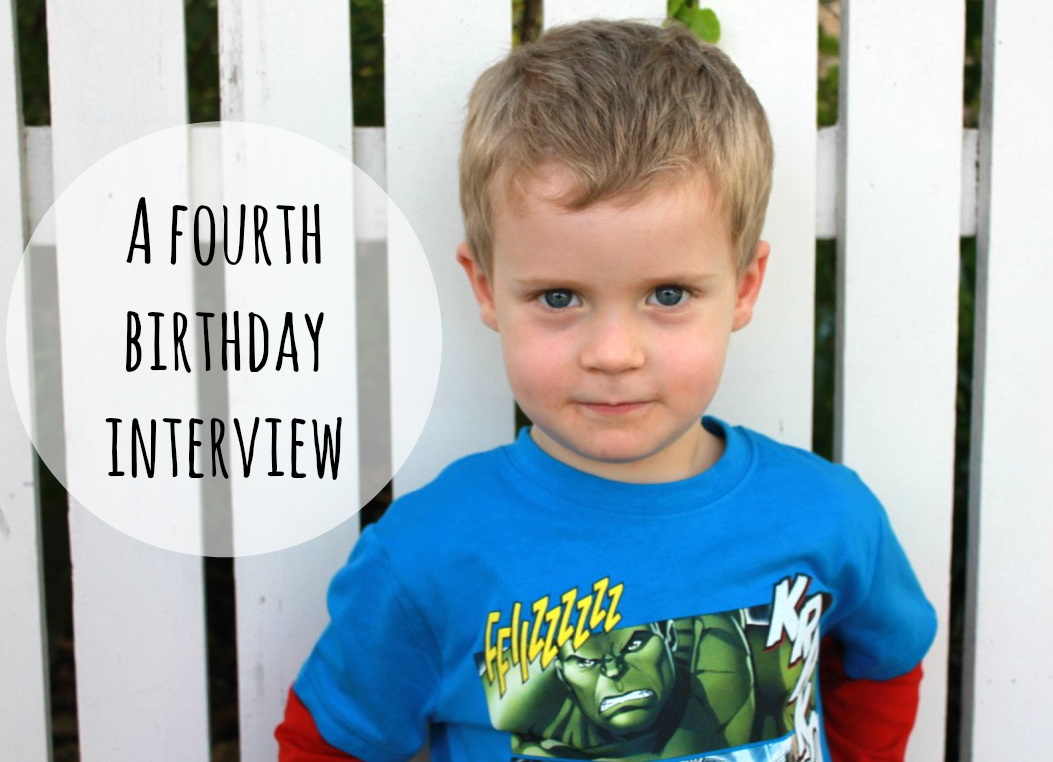 birthday interview with the middle lad