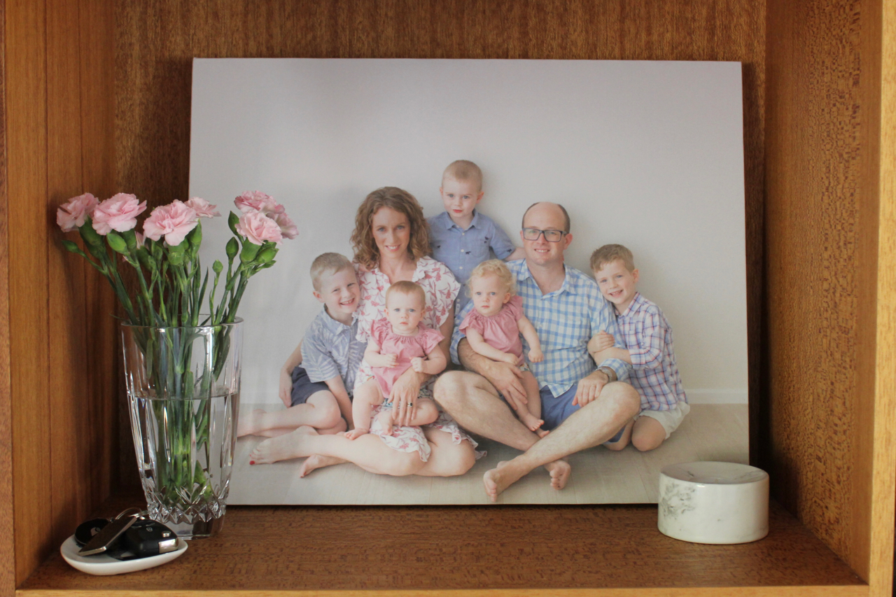 Family photos on canvas