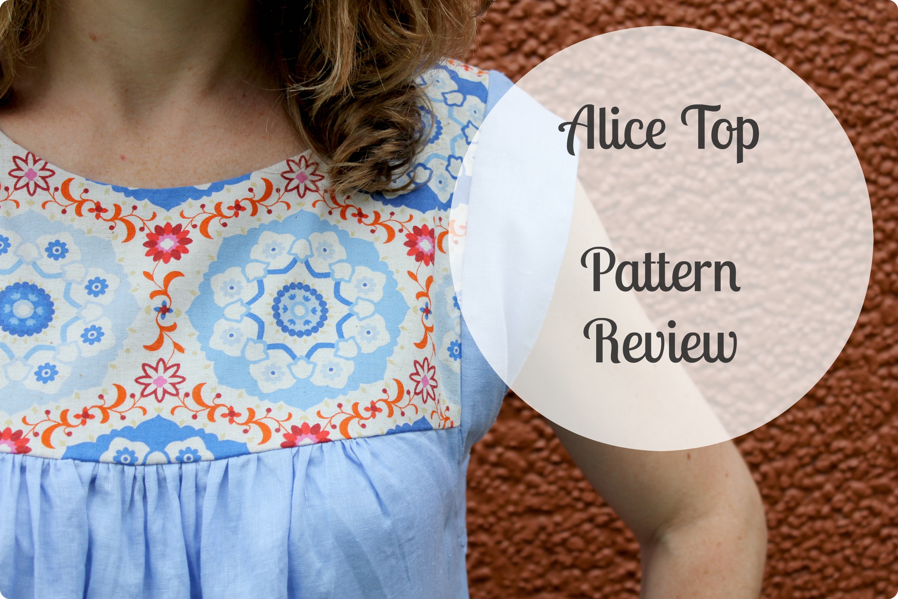 Alice Top Pattern Review