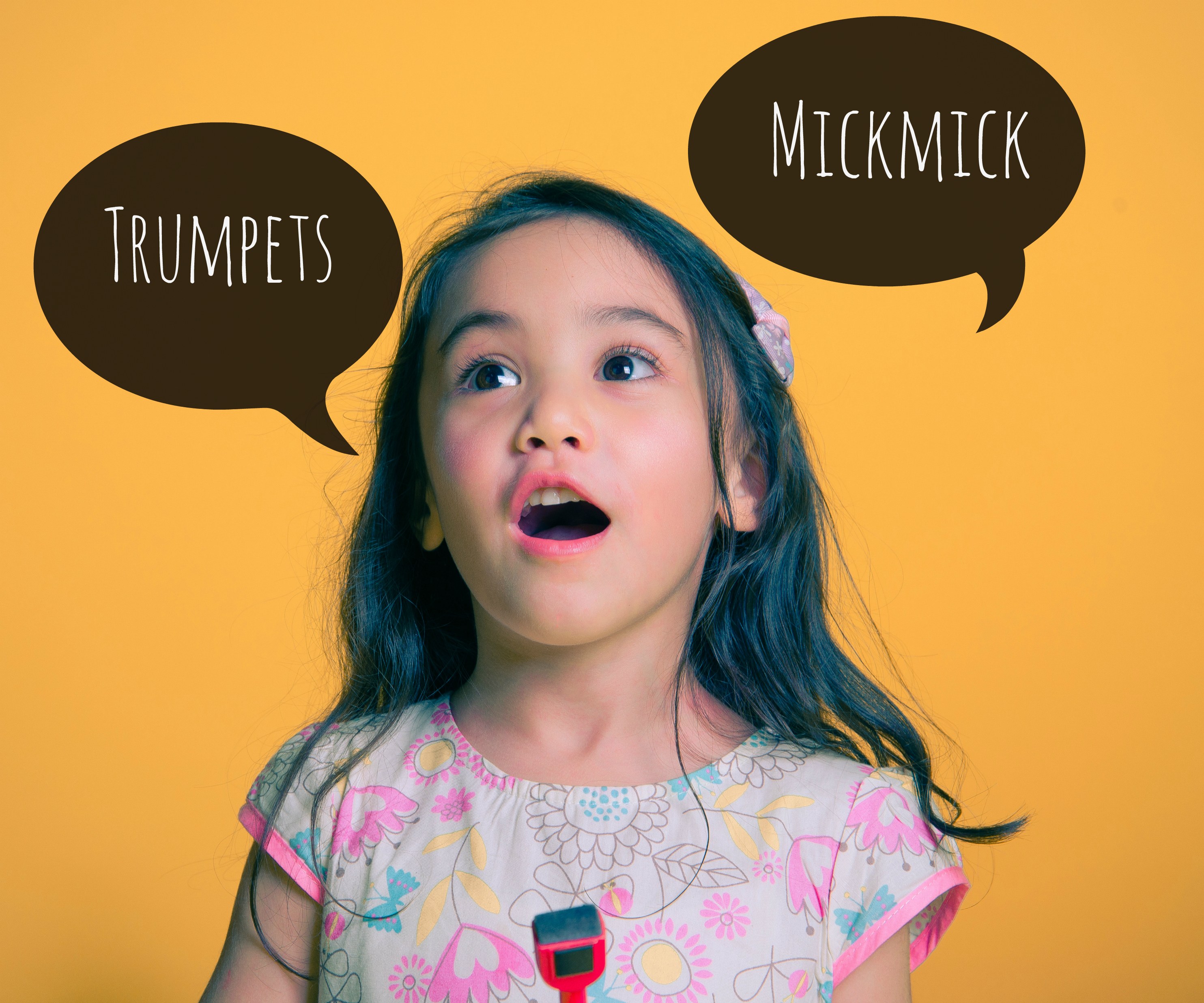 words jumbled by toddlers