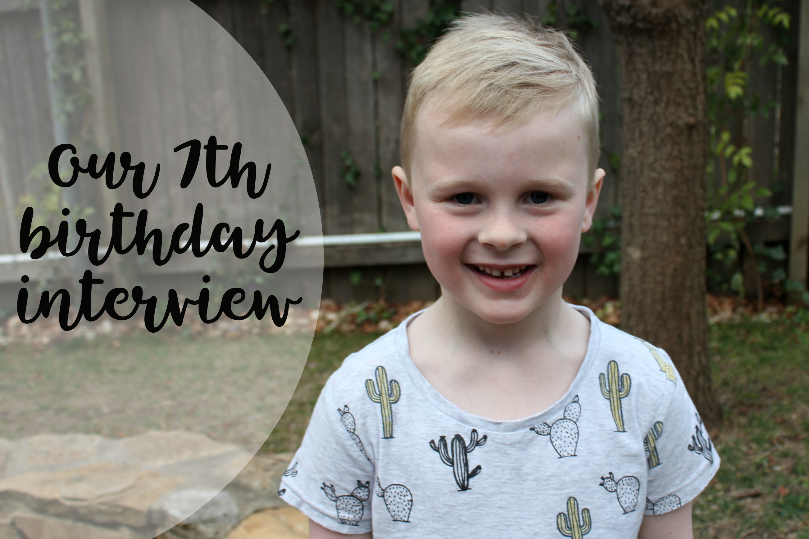 7th birthday interview